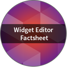 Widget editor factsheet